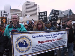 March19'05: CUPW banner at Peace March