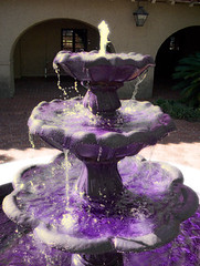Purple and Gold Fountain (Chiceaux) Tags: water fountain photoshop lsu chiceaux xceaux
