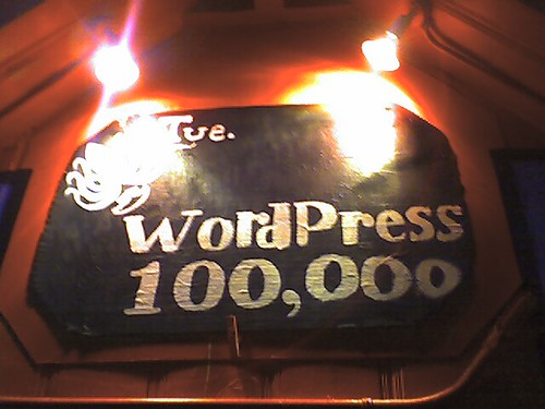 WordPress 100,000 sign