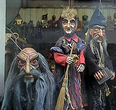 Evil Puppet Regime (steeev) Tags: evil witch rasputin puppet puppets marionettes marrionette wizard scary curse magic spell strings prague czech shopwindow shop puppetshow witchesbroom broom broomstick czechrepublic praha prag facesofevil creepy hag steeev
