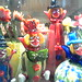 funny glass clown ornaments