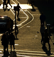 (joto25) Tags: street city people holland netherlands car amsterdam silhouette square europa europe traffic dam tracks thenetherlands royal eu tram palace busy rush noordholland joto25 northholland jotography jtloh