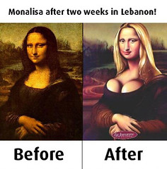 Funny Week in Lebanon (mnadi) Tags: lebanon art fun funny joke monalisa lebanese retouching retouched