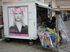 News stand in Monaco