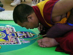 Tibetan Monk creating a sand mandala (nospuds) Tags: monk mandala tibetan