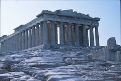 The Parthenon, 1975 (RobW_) Tags: travel family heritage architecture 1025fav 510fav ancient ruins famous landmark athens parthenon greece scanned 1975 wallace slides acropolis cultural top40 interestingness341 explore28mar05 i500