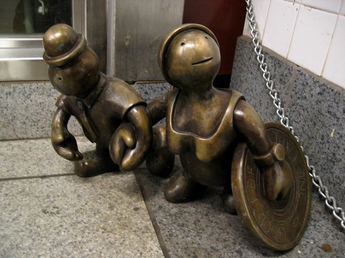 NYC Subway sculpture - Tourists