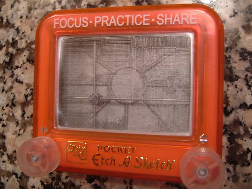 interior Etch-a-Sketch