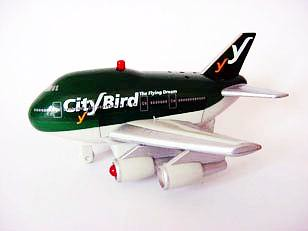City Bird - The Flying Dream Toy Fun Plane with batteries #1D