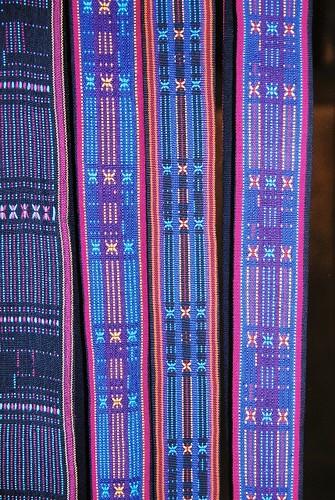 Traditional fabrics at Bena village