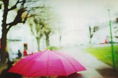 umbrella (.philippe.) Tags: lomo umbrella pink jimanalog grenoble