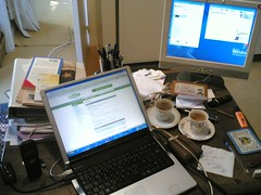 I need to clean up my home office desk...