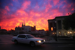 Sunset after the storm (Mark Strozier) Tags: sunset sky storm color weather clouds georgia colorful polarizer macon macongeorgia sjcc downtownmaconga