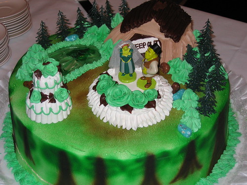 Torta de bodas de Shrek