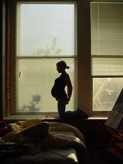 pregnant profile IV (mahalie) Tags: woman window silhouette bedroom profile mother pregnancy pregnant blinds venetian backlit angela moo1