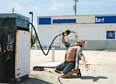 Thirsty for Oil (hrtmnstrfr) Tags: george rust war iran iraq apocalypse middleeast dry gasstation oil petrol desolate thirst gasprices fuel gaspump sustainability petroleum peakoil shortage endofoil oilpeaks energywars