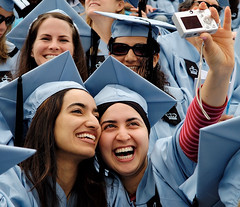 Capturing the Moment (Ryan Brenizer) Tags: camera nyc newyorkcity blue newyork work education fuji emotion manhattan candid graduation may photojournalism 2006 finepixs2pro noflash 1755mmf28g commencement columbiauniversity teacherscollege morningsideheights