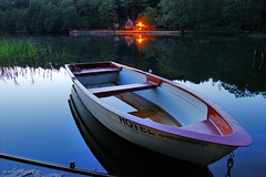 Silence (Dietrich Bojko Photographie) Tags: longexposure lake reflection night d50 germany deutschland boot evening bravo webinteger quality nikond50 shore brandenburg idylle 18mm barnim nikkor1855mm naturparkbarnim