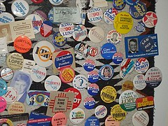 Some of Floyd's Buttons from the new Center of the Political Universe