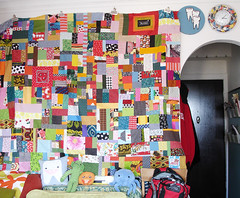 Holy Scrap Quilt, Batman! (Loosetooth.com) Tags: quilt quilting scrapquilt usewhatyouhave
