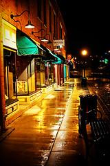 Rainy Storefronts (fensterbme) Tags: nightphotography columbus ohio urban wet rain interestingness lomo canon20d streetphotography highcontrast rainy storefront columbusohio fenstermacher processed effected fauxlomo