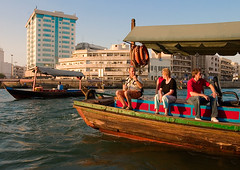 Dubai Creek... (Goldmanoz) Tags: blue red water tag3 taggedout creek dubai tag2 tag1 ride tourist dhow