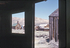 Bodie - 1964 - Slide 1 (Cliff Stone) Tags: desert offroad scan ghosttown bodie oldpicture