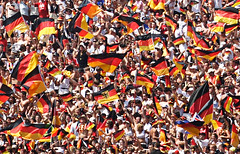 Fever (...like a chimp with coconuts) Tags: summer germany munich football fifa soccer crowd flags weltmeisterschaft wm cropped fans worldcup flagge supporters weltmeister olympiapark fanfest wm2006 germany2006 fifa2006 mg2742 germanysweden