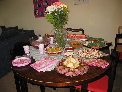 birthday party food table. 1st Birthday - Food Table