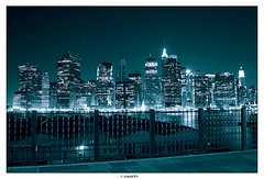 The Stars are still Shining over the City (Arnold Pouteau's) Tags: nyc newyorkcity newyork skyline night downtown manhattan frombrooklyn spot1 nyc10