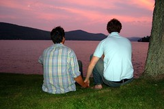 Aww (Chris Matta) Tags: family friends summer lake george sam sean lakegeorge holdinghands brokeback kevinspacey