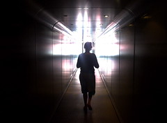 Airport (Victor Holland) Tags: barcelona light reflection girl airport dream