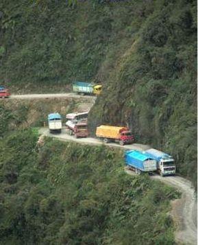 El camino de la muerte Bolivia