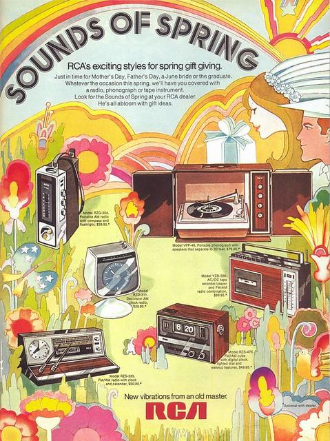 RCA Electronics ad, 1971