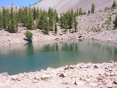 Crags Lake reflects (fort-m) Tags: crags lassen cragslake
