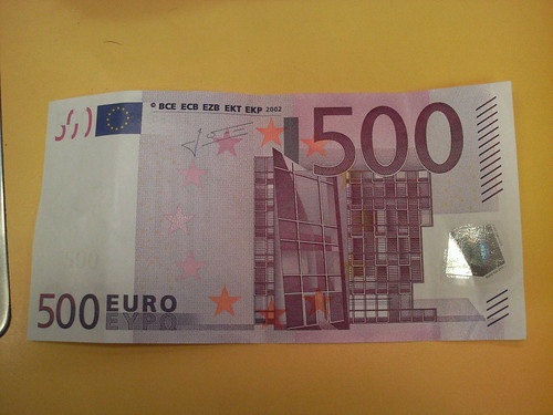 Too much money: 500 Euro!