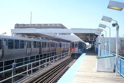 railroad usa chicago station electric america train illinois cta railway el il electricity l elevated 電 电