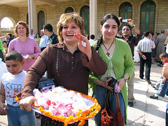 Kurdistan: The other Iraq (Chris Kutschera) Tags: woman church smile sweet iraq middleeast christian mass kurdistan chaldean