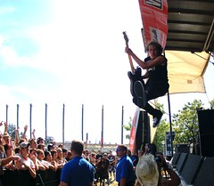 Now this is how you jump into a crowd (spacehindu) Tags: music rock concert tour stadium live ubc warped canadian indie anil vans thunderbird top20livemusic sharma moneen anilsharma
