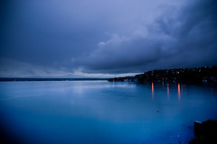 Rainy Morning (Luis Montemayor) Tags: blue mountain lake azul clouds mexico lago lights luces explore nubes laguna hdri myfavs morelos tequesquitengo travelerphotos