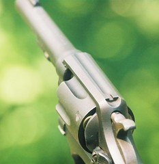 Spectre of the Gun (Jeff Holbrook) Tags: green gun pistol sw revolver firearm supershot cribsflickrstyle jeffholbrook
