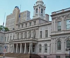 City Hall (inkfeather) Tags: summer cityhall downtownmanhattan newyorkcitycityhallparkfountainmanhattan