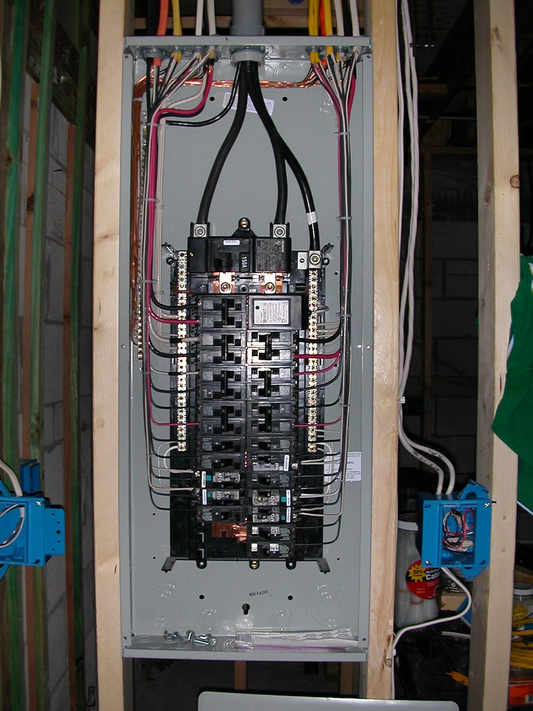 Circuit Breaker Install further 100 Load Center Wiring Diagram Schematic furthermore Split Bus Electrical Panels No Main Breaker in addition 510487 100  Basement Subpanel as well 978392. on wiring a homeline service panel