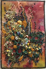 Fabri Postcard for July 2006 (sharonb) Tags: beads needlework embroidery sewing crafts postcard stitching textiles beading fabricpostcard 6x4lives