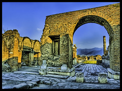 Arches of Pompeii (Stuck in Customs) Tags: new italy ruins italia arch roman ruin pompeii vesuvius hdr pompei scavi