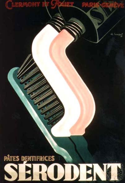 Charles Loupot, Sérodent ad, 1935