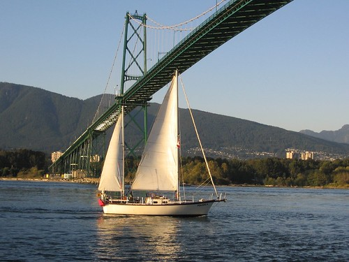 Sailing Boat and Lion's Bridge