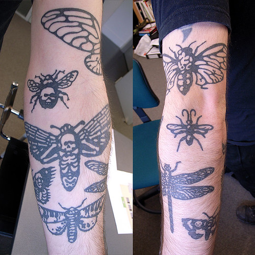 Tagged with tattoo, insects, skulls, superlocal .