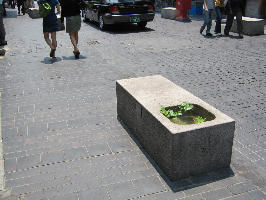 Street Furniture with Waterflowers
