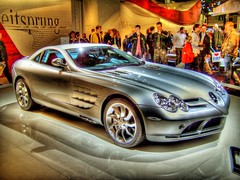 Mercedes-Benz SLR (C199) (Ozan) Tags: auto slr car mercedes interestingness autoshow fair voiture leipzig explore mercedesbenz messe hdr araba leipzigermesse fuar ozan  photomatix  otomobil ami2006 club300  c199 ozandanman ozandanisman